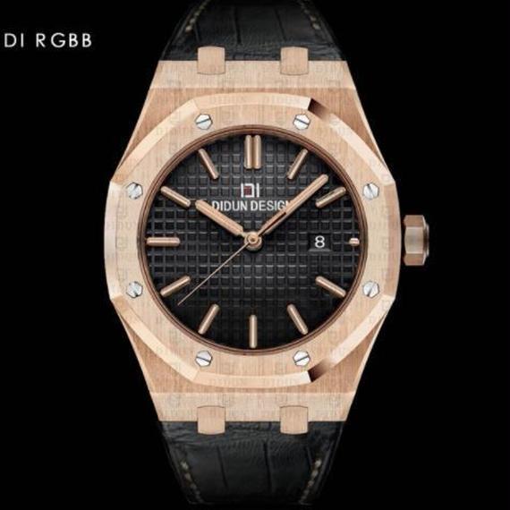 Didun 高級腕時計 クォーツ 耐衝撃 30メートル防水 レザーバンド 希少品 DI RGBB 00120