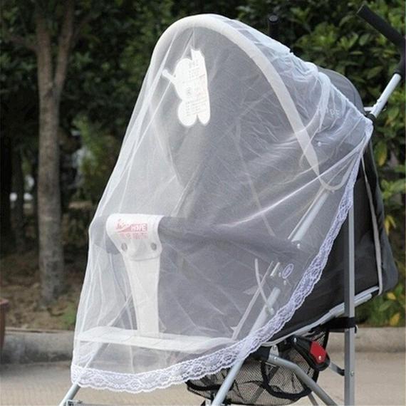 ベビーカー用ネット 虫よけカバー ベビーシェルター 蚊帳 メッシュ バギー ベビー用品 k00009