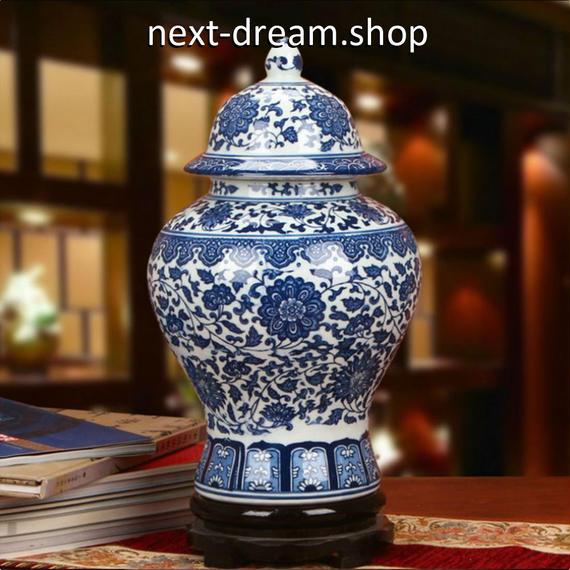 新品送料込  花瓶 磁器 青×白 セラミック 柄模様 アンティーク ヴィンテージ 高級装飾 ホームインテリア 贈り物  m00537