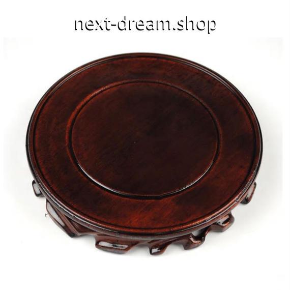新品送料込  花瓶ベース 木製 ヴィンテージ 10cm 高級装飾 ホームインテリア 贈り物  m00530