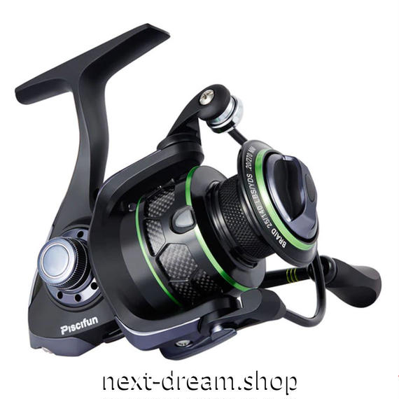 新品 スピニングリール 釣り道具 フィッシング 防水 高性能ベアリング 黒×緑 2000 / 3000 / 4000番 m01939