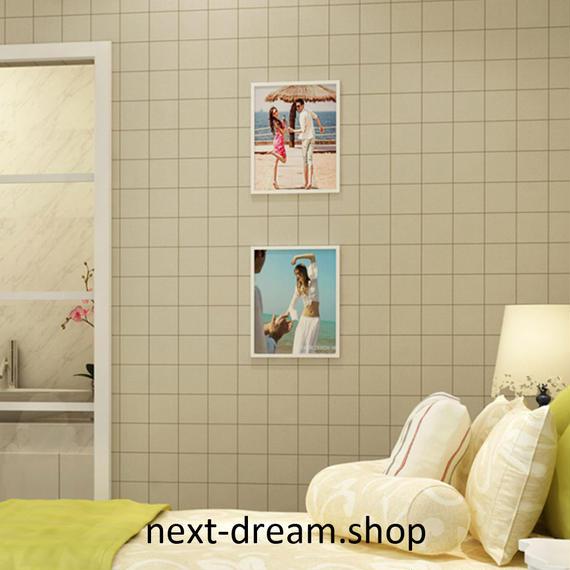 3D 壁紙 53×1000㎝ レトロ タイル模様 DIY 不織布 カビ対策 防湿 防水 吸音 インテリア 寝室 リビング h02029