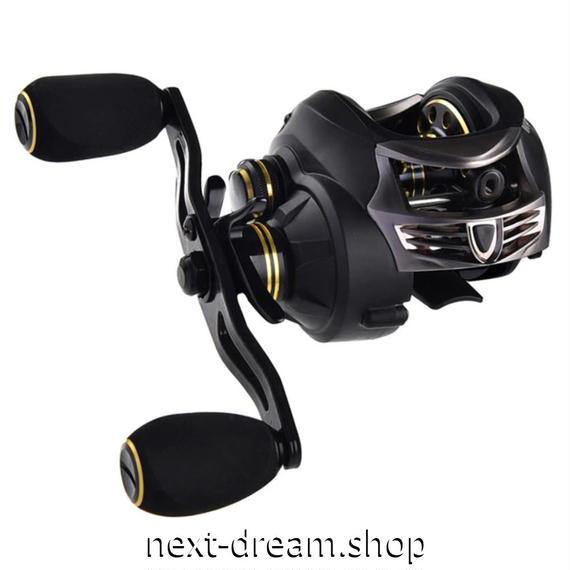 新品 ベイトリール 釣り道具 フィッシング 超軽量カーボンボディ 黒×金 右ハンドル 左ハンドル m01919