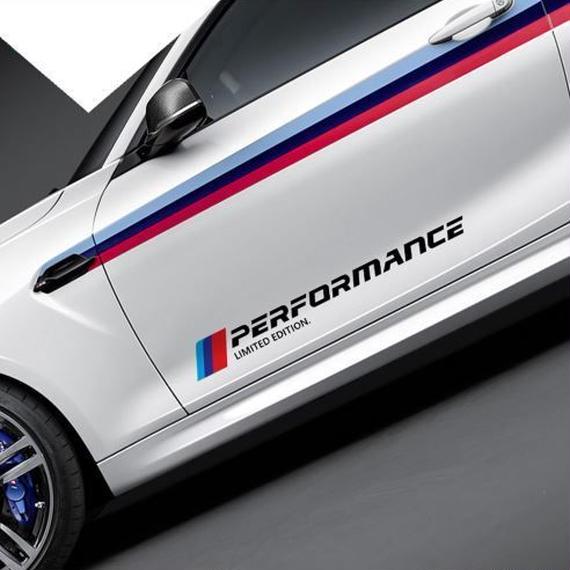 限定版 BMW ステッカー カースタイリング ドアサイド ロゴ デカール e46 e90 e60 e39 f30 f34 f10 e70 e71 x5 f15 e30 h00031