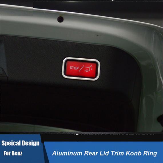 ベンツ カーインテリア 内装 トランクボタンカバー STOP Mercedes-Benz h00543