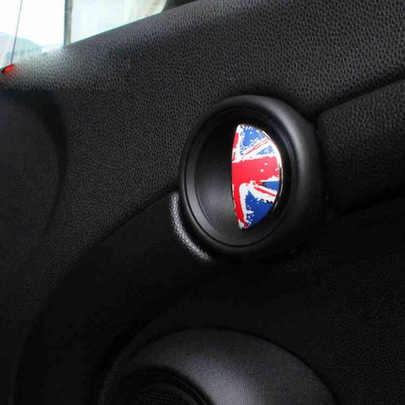 ミニクーパー ステッカー ドアロック シール ドアハンドル 2個入 Mini cooper S R55 R56 R60 h00447
