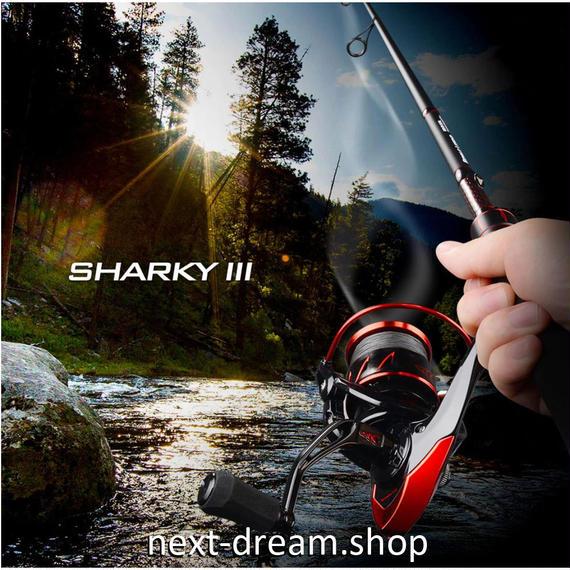 新品 リール 釣り道具 フィッシング 耐水性 スピニング 低音 黒×赤 1000 / 2000 / 3000 /4000 / 5000番 m01904