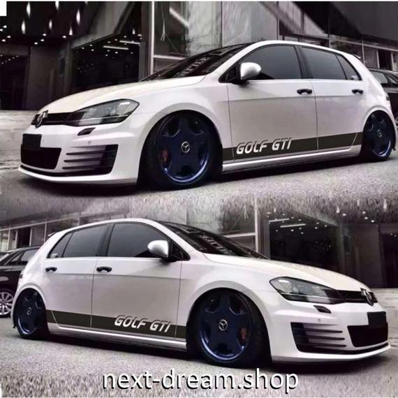ステッカー デカール VW フォルクスワーゲン GTI 用 Volkswagen お洒落 ロゴ 外装 サイド ボディ 自動車 カースタイリング m02034
