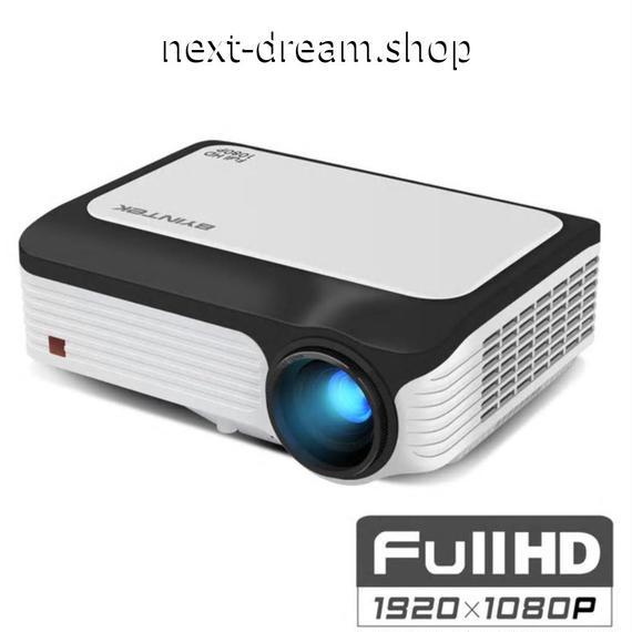 新品送料込   プロジェクター ホームシアター用  ポータブルミニ フルHD 1080p LED 1920×1080 液晶 200インチ  m00511