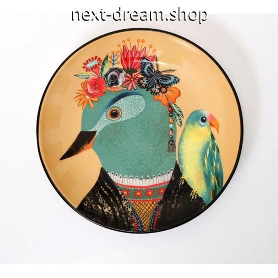 新品送料込 皿 セラミック 食器 鳥 オレンジ 古代エジプトスタイル 海外 高級 おしゃれ ホームパーティ 00828