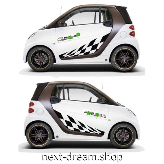 ステッカー デカール ベンツ SMART用 スマート 外装 サイドドア ボディ 黒 自動車 カースタイリング m02027