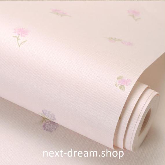 3D 壁紙 53×1000㎝ 子供部屋 花柄 DIY 不織布 カビ対策 防湿 防水 吸音 インテリア 寝室 リビング h02101