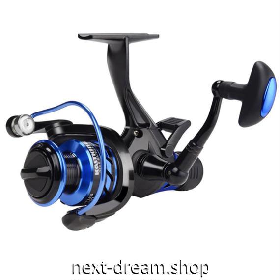 新品 リール 釣り道具 フィッシング 淡水 海水 スピニング 低音 高性能ベアリング 黒×青 2000 / 3000 /4000 / 5000番 m01914