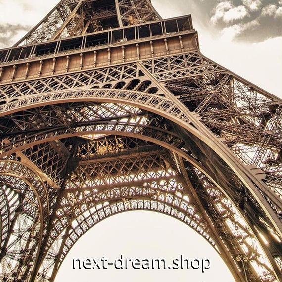 3D 壁紙 玄関用 1ピース 1㎡ シティ風景 エッフェル塔 パリ インテリア 装飾 部屋 耐水 防湿 耐衝撃 騒音吸収 h02723