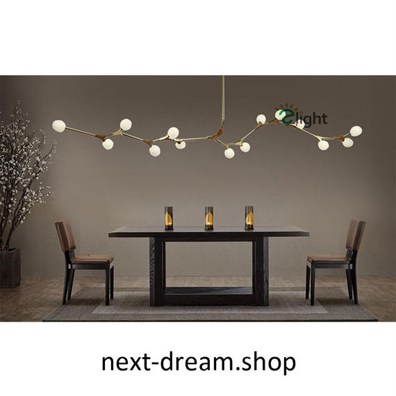 ペンダントライト 照明×5 LED 金色 丸型 蔓デザイン ダイニング リビング キッチン 寝室 北欧モダン Lindsey  h01627