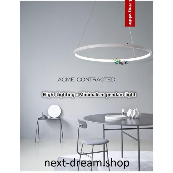 ペンダントライト 照明 LED リング 直径60cm 輪型 調光対応 ダイニング リビング キッチン 寝室 北欧モダン h01521