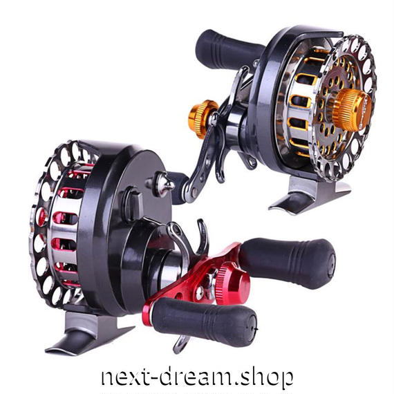 新品 フライリール 釣り道具 お洒落 フィッシング スプール ドラグ  赤 オレンジゴールド 5/6 魚 フルメタル m01990