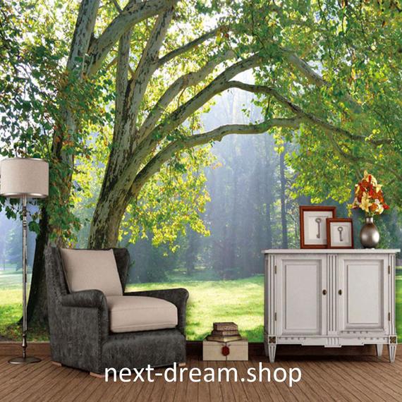 3D 壁紙 1ピース 1㎡ 自然風景 森林浴 癒し 大木 緑 インテリア 装飾 寝室 リビング h02158