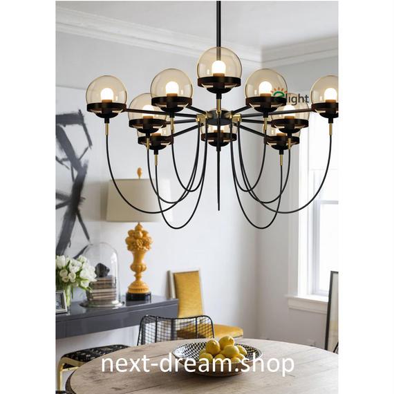 ペンダントライト 照明 LED ボール型 照明×10 シャンデリア ダイニング リビング キッチン 寝室 アメリカンレトロ h01534