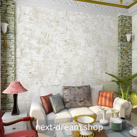 3D 壁紙 53×1000㎝ シンプル 無地 DIY 不織布 カビ対策 防湿 防水 吸音 インテリア 寝室 リビング h02103
