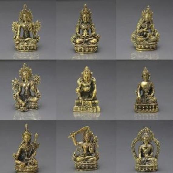 ミニポケットお守り 仏工芸品 チベット 黄金仏 宝物 コレクション 00322