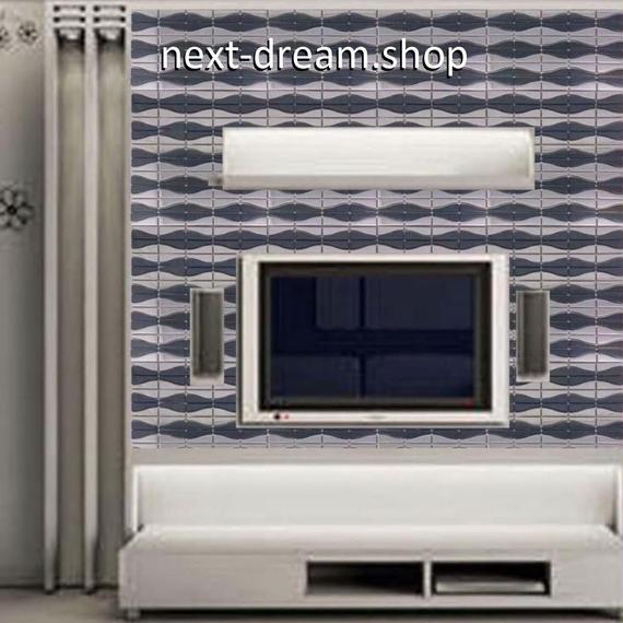 3D壁紙 30×30cm 11枚セット モザイクタイル 黒 ステンレス 湾曲 DIY リフォーム インテリア 部屋/キッチン/トイレにも h04364