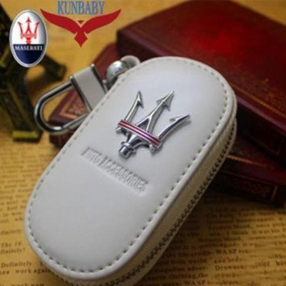 【Maserati】マセラティ キーバッグ キーチェーン ケースホルダー レザー仕様  00084