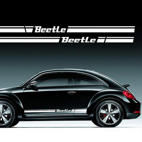 ワーゲン ビートル ステッカー サイドボディ Volkswagen Beetle 2個入 h00470