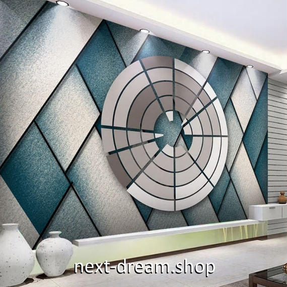 3D 壁紙 1ピース 1㎡ 幾何学模様 近未来 ブロック DIY リフォーム インテリア 部屋 寝室 防湿 防音 h03251