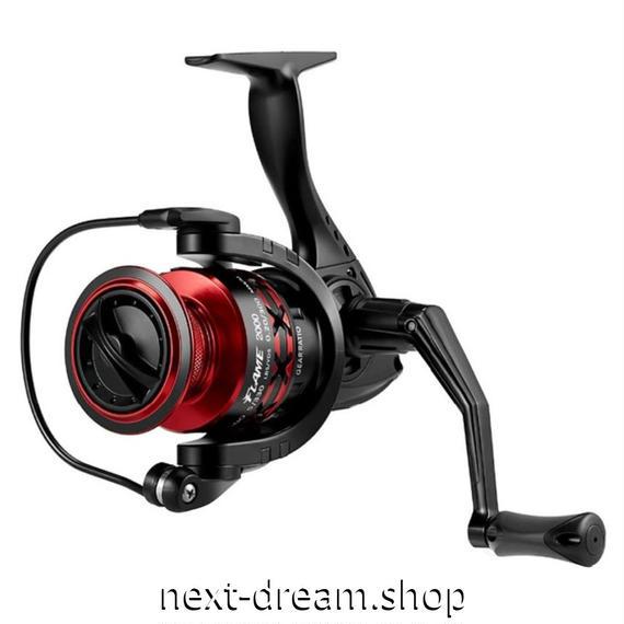 新品 スピニングリール 釣り道具 フィッシング 超軽量 高性能ベアリング 黒×赤 2000 / 3000 / 4000 / 5000番 m01944