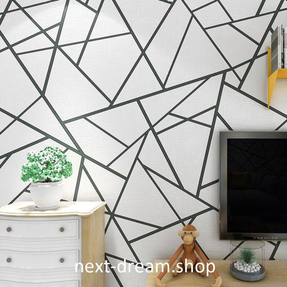 3D 壁紙 53×1000㎝ モダン 幾何学 DIY 不織布 カビ対策 防湿 防水 吸音 インテリア 寝室 リビング h02051
