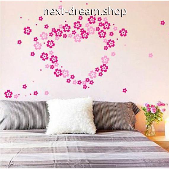 ウォールステッカー ピンク 花 桜 かわいい シール おしゃれ DIY  壁 キッチン 寝室 リビング トイレ 子供部屋  m01384