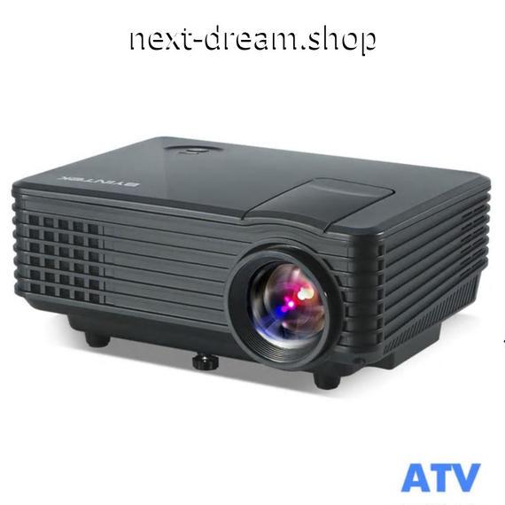 新品送料込   プロジェクター ホームシアター用  LED ポータブルビデオ HD 液晶 HDMI USB TVチューナーサポート1080P  m00514