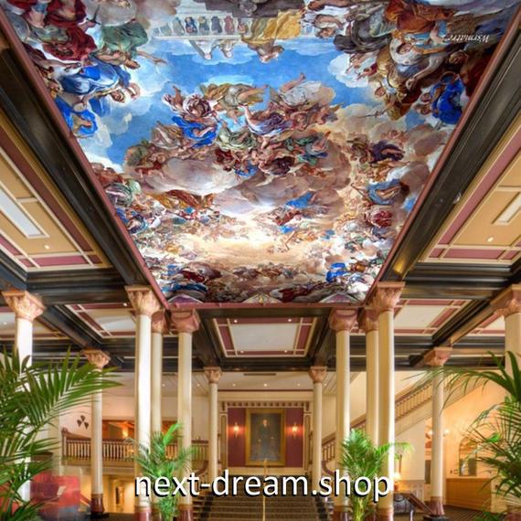 3D 壁紙 1ピース 1㎡ ヨーロッパレトロ 油絵 古代人 天井用 インテリア 装飾 寝室 リビング 耐水 防湿 h02683