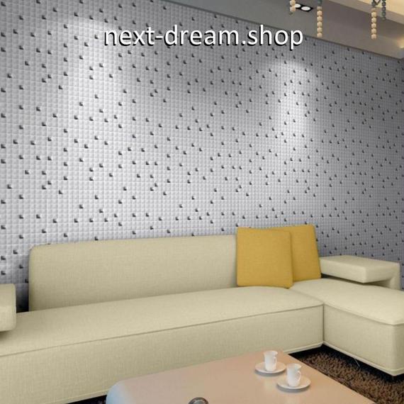 3D壁紙 29.8×29.8cm 11枚セット モザイクタイル 白 セラミック DIY リフォーム インテリア 部屋/キッチン/トイレにも h04362