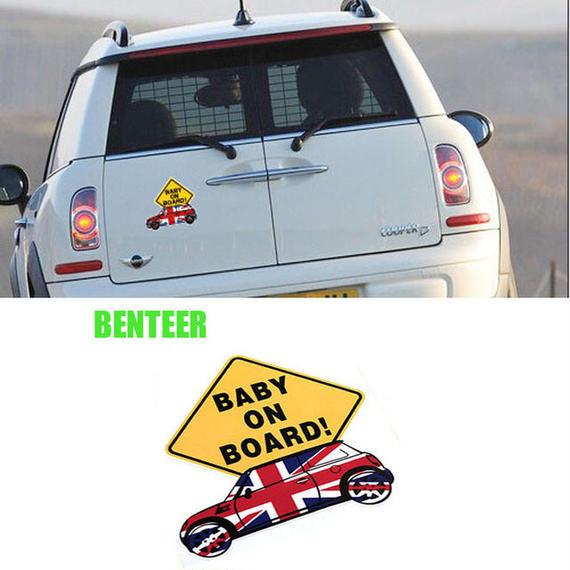 ミニクーパー ステッカー Mini Cooper S JCW ボディ 赤ちゃん 警告 ベビー h00449