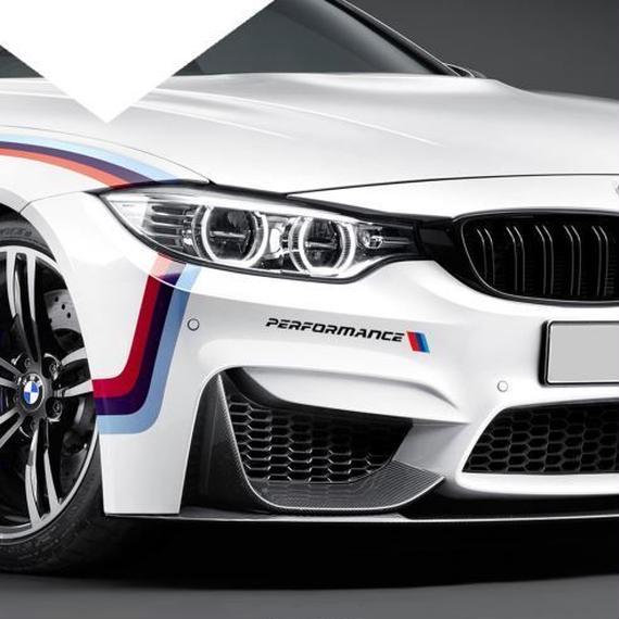 BMW 車 Aペア 11インチフロント Sport  バンパーステッカー E90 F30 F10 X5 X6 E46 E36 E60 F15 F16 E39 E53 E34 E30 h00019