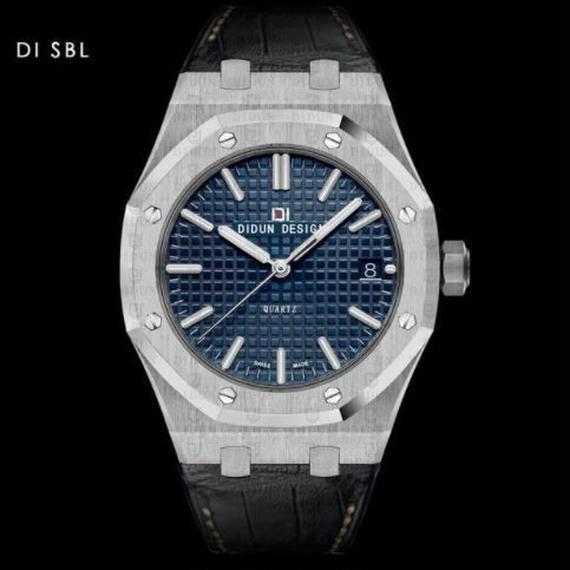 Didun 高級腕時計 クォーツ 耐衝撃 30メートル防水 レザーバンド 希少品 DI SBB 00120