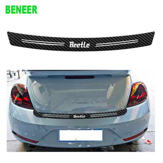 ワーゲン ビートル ステッカー リア バンパー Volkswagen Beetle カーボン h00469