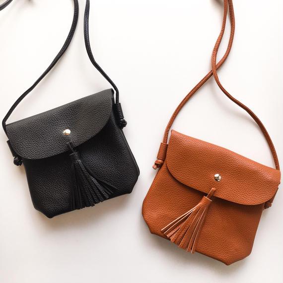 tassel  leather chick shoulder bag