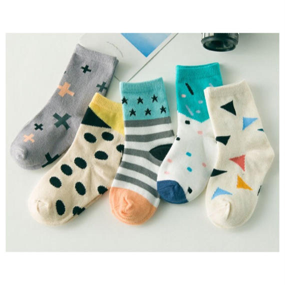 ancle socks 5p set / C
