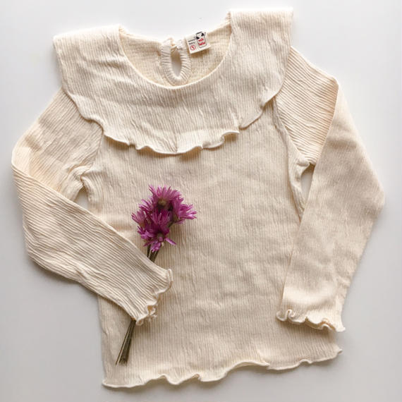 wrinkled frill top