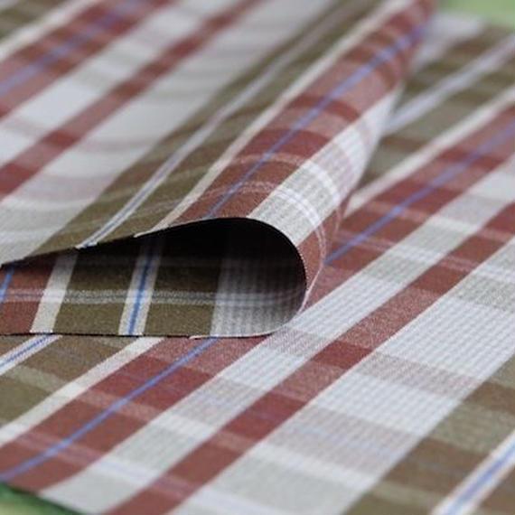 『ぶどう畑のチェック』holo shirts.オリジナルファブリック