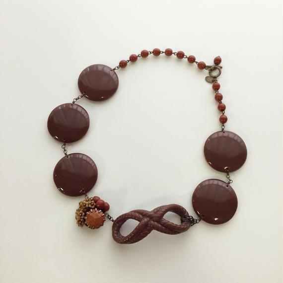 お菓子な茶色のレジンネックレス