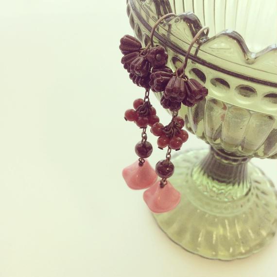 イチゴチョコシリーズ ロングピアス