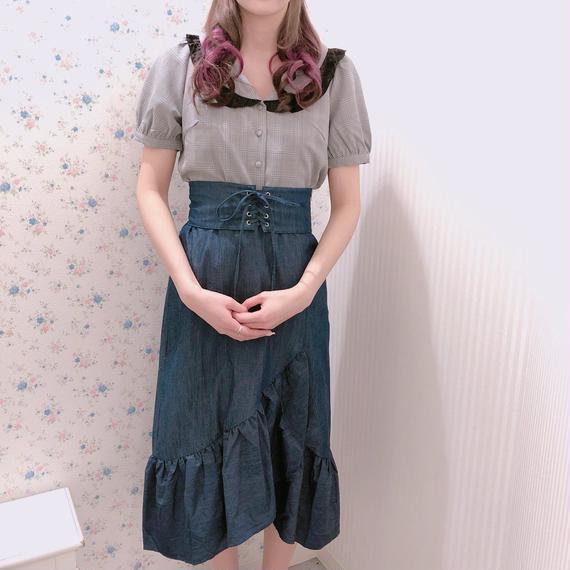 181SK14 コルセット付きロングスカート