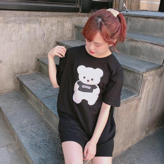 182CS63【unisex】貼付けシナモンビッグTシャツ