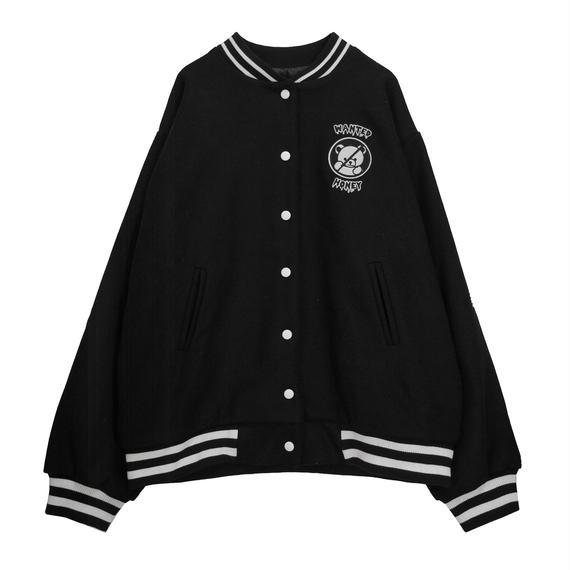 184JK1208【unisex】シナモンくん刺繍スタジャン