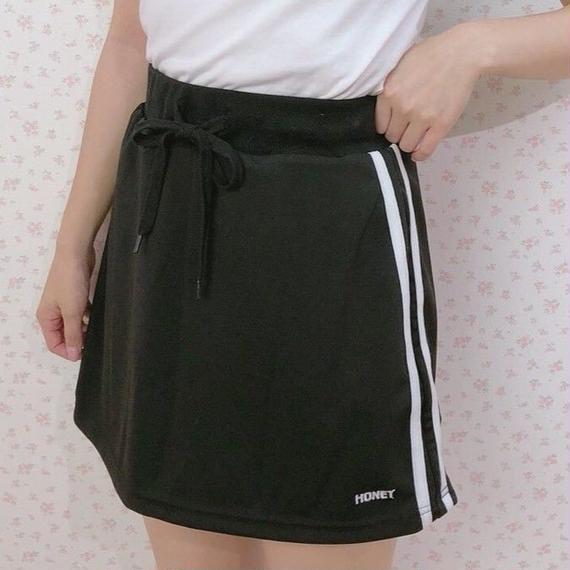 183SK0883 ロゴ刺繍ミニスカート