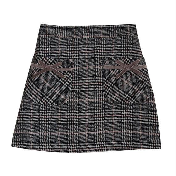 184SK1112 チェック台形スカート【再入荷決定】